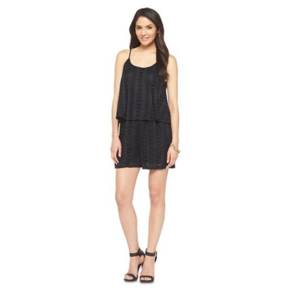 66351ea1c430 Black Lace Romper Mossimo Extra Small NWT